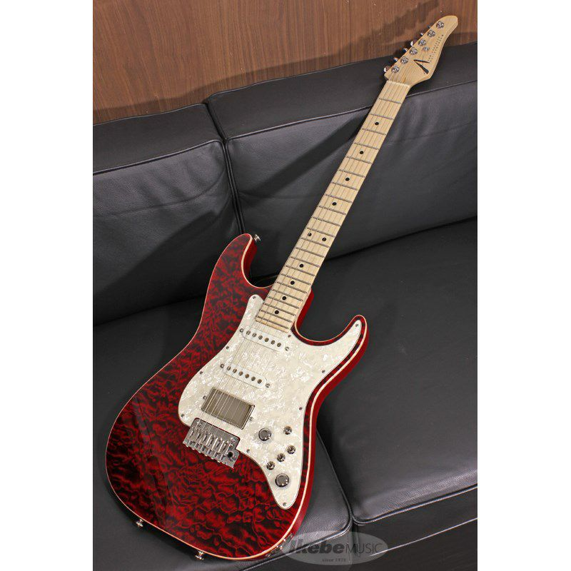 Drop Top Classic Quilt Maple Top on Alder Body Cajun Red with Binding【SN.07-19-20P / Weight≒3.35kg】_1