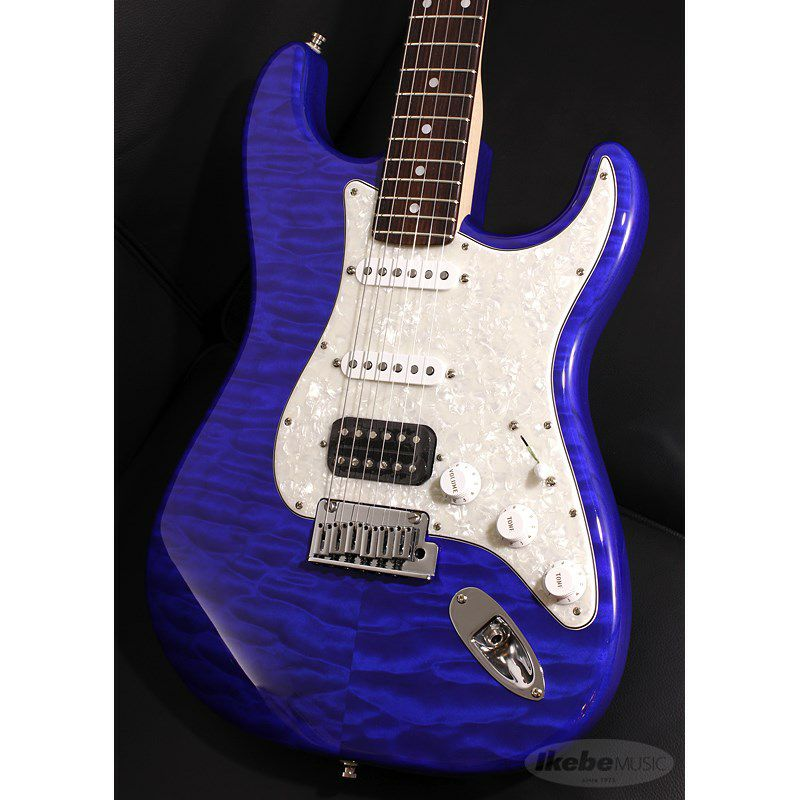 Custom Deluxe Stratocaster Hand Selected Quilt Maple Top NOS HSS, Cobalt Blue Transparent/R SN.CZ546390 【イケベオーダーモデル】 【ポイント18%還元】_3