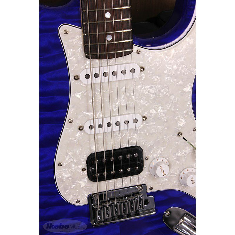 Custom Deluxe Stratocaster Hand Selected Quilt Maple Top NOS HSS, Cobalt Blue Transparent/R SN.CZ546390 【イケベオーダーモデル】 【ポイント18%還元】_7