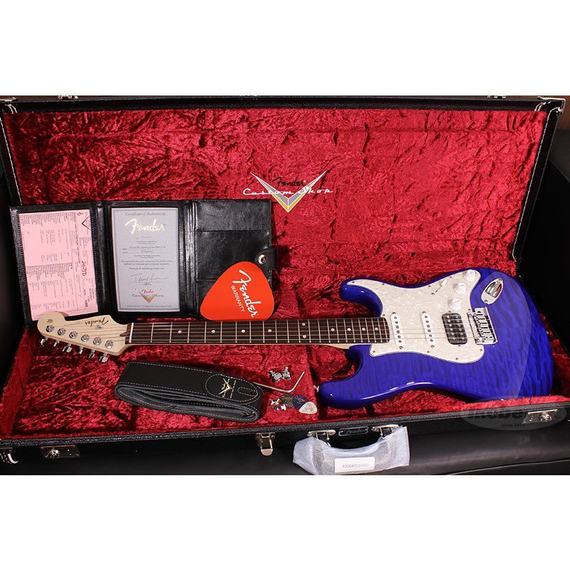 Custom Deluxe Stratocaster Hand Selected Quilt Maple Top NOS HSS, Cobalt Blue Transparent/R SN.CZ546390 【イケベオーダーモデル】 【ポイント18%還元】_11