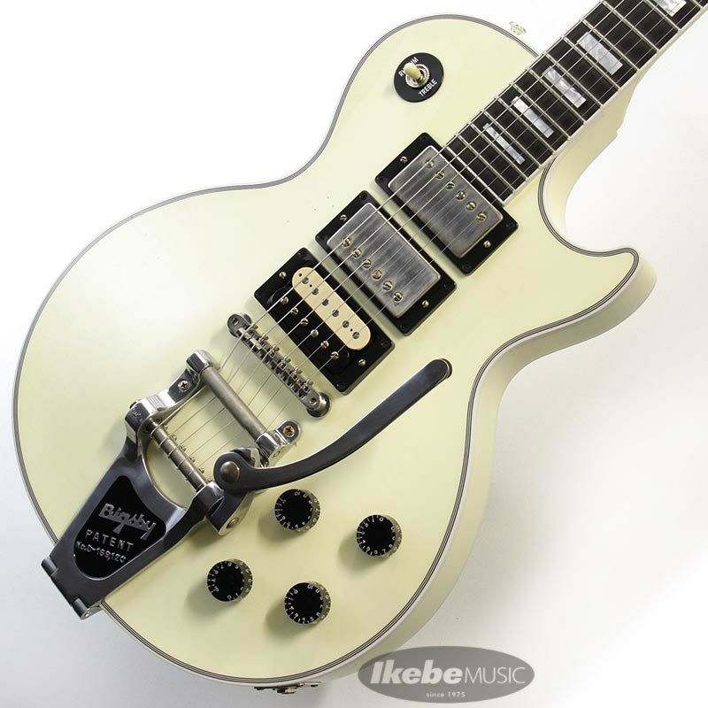 CUSTOM SHOP Les Paul Custom 3PU w/Bigsby Light Aged Classic White 【SN.CS000066】 【ポイント18%還元】_1