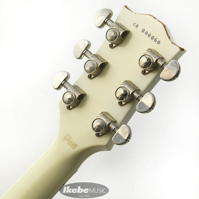 CUSTOM SHOP Les Paul Custom 3PU w/Bigsby Light Aged Classic White 【SN.CS000066】 【ポイント18%還元】_11