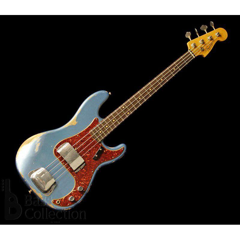 Limited Edition 1960 Precision Bass Heavy Relic (Faded Lake Placid Blue)_1