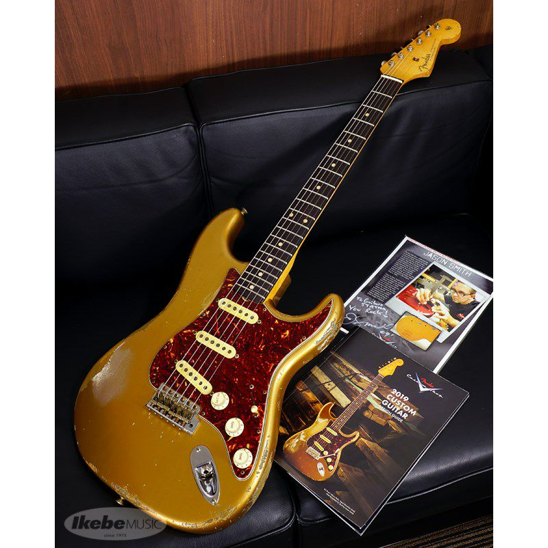 MBS 62 Stratocaster Heavy Relic,Aged Shoreline Gold,Master Built By Jason Smith SN.R103717/2019NAMM Re-Order Model_1