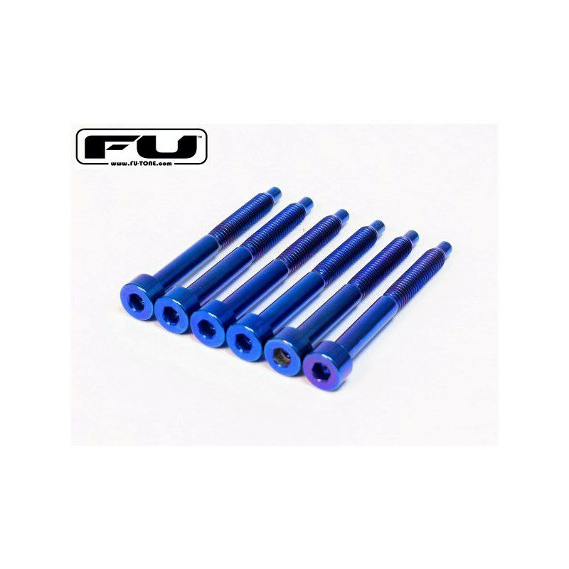 Titanium String Lock Screw Set (6) - BLUE_1