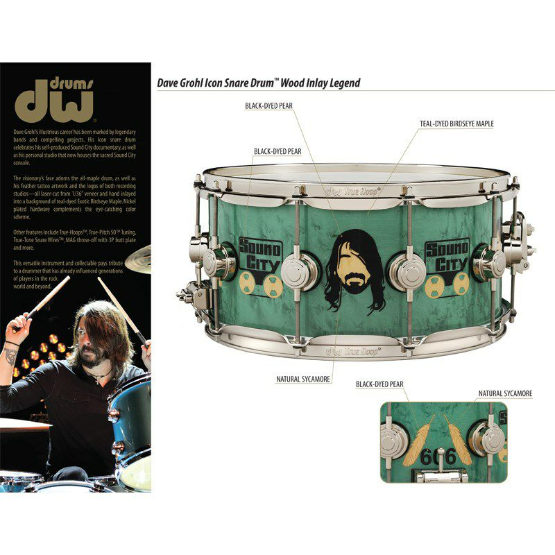 DW-ICON DAVE GROHL [Icon Snare Drums / Dave Grohl Sound City]【入荷しました!】_5