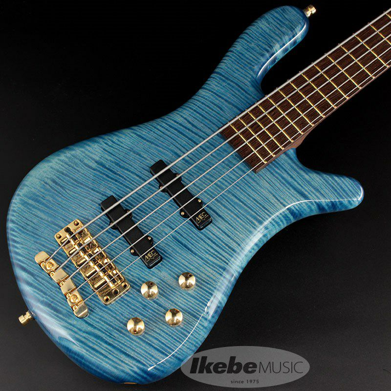 """Custom Shop Streamer LX5 """"Hand-Selected 1"""" Slanted AAA Colored Flame Maple Top"""" 【特価】 (Bleached Blue Transparent High Polish) [CL2020]_1"""