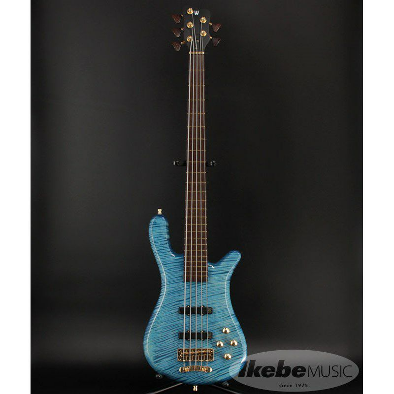 CS LX5 Hand-Selected 1 Slanted AAA Colored Flame Maple Top【特価】(Bleached Blue Transparent HP)_2