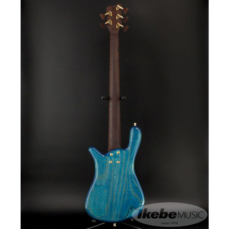 CS LX5 Hand-Selected 1 Slanted AAA Colored Flame Maple Top【特価】(Bleached Blue Transparent HP)_3