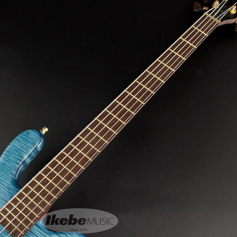 """Custom Shop Streamer LX5 """"Hand-Selected 1"""" Slanted AAA Colored Flame Maple Top"""" 【特価】 (Bleached Blue Transparent High Polish) [CL2020]_5"""