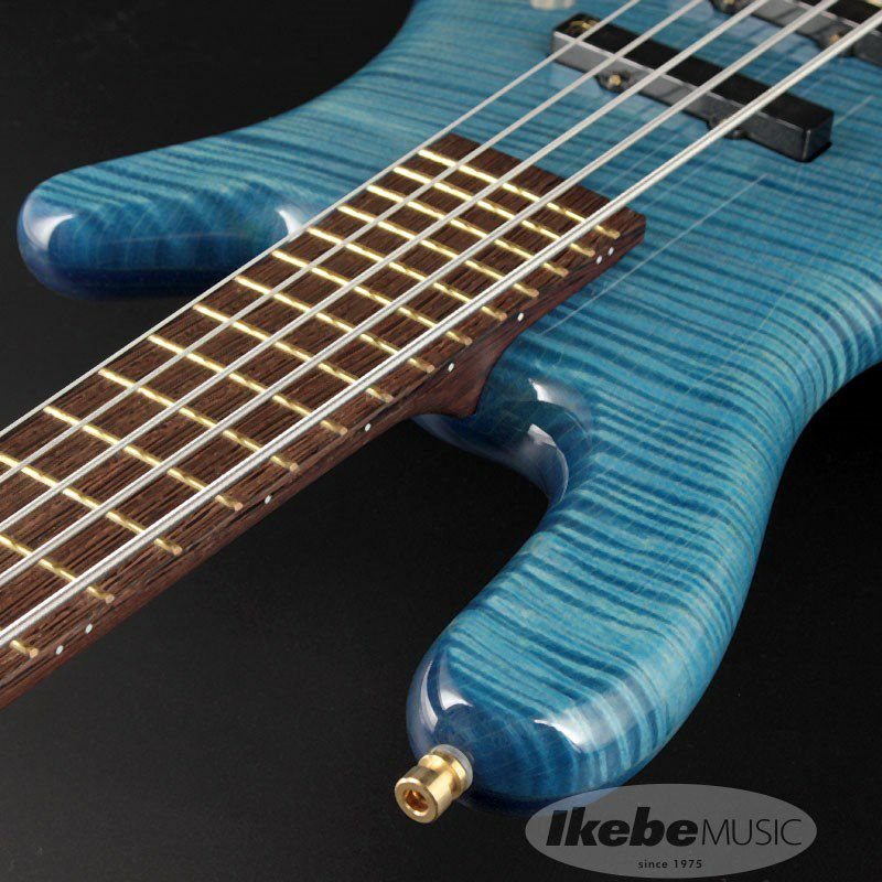 CS LX5 Hand-Selected 1 Slanted AAA Colored Flame Maple Top【特価】(Bleached Blue Transparent HP)_6