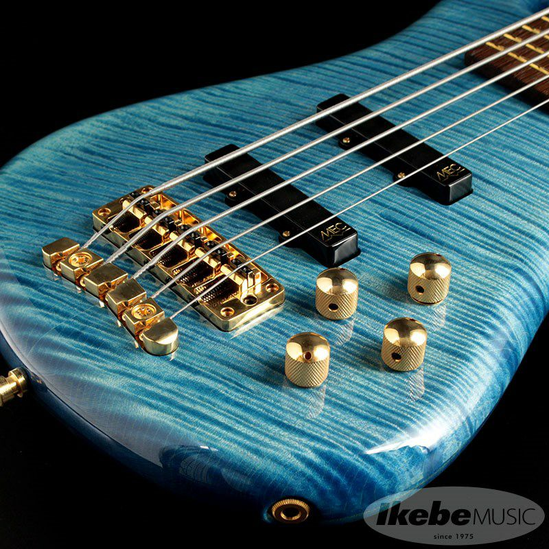 CS LX5 Hand-Selected 1 Slanted AAA Colored Flame Maple Top【特価】(Bleached Blue Transparent HP)_8