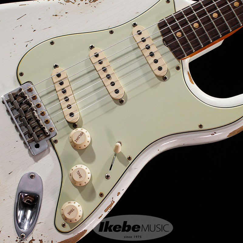 Custom Built 1961 Stratocaster Heavy Relic Super Aged Olympic White【IKEBE Order Model】 【ポイント18%還元】_3