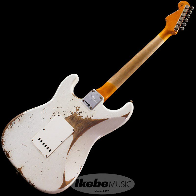 Custom Built 1961 Stratocaster Heavy Relic Super Aged Olympic White【IKEBE Order Model】 【ポイント18%還元】_5