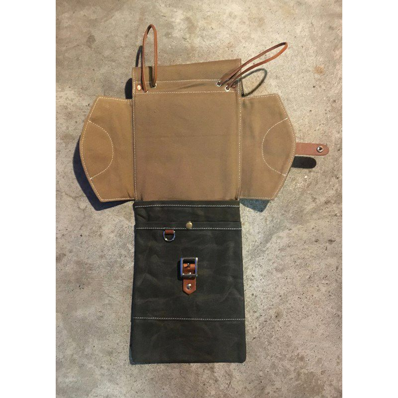 CSB-WFG [Waxed Canvas Compact Drum Stick Bag / Forest Green]_3