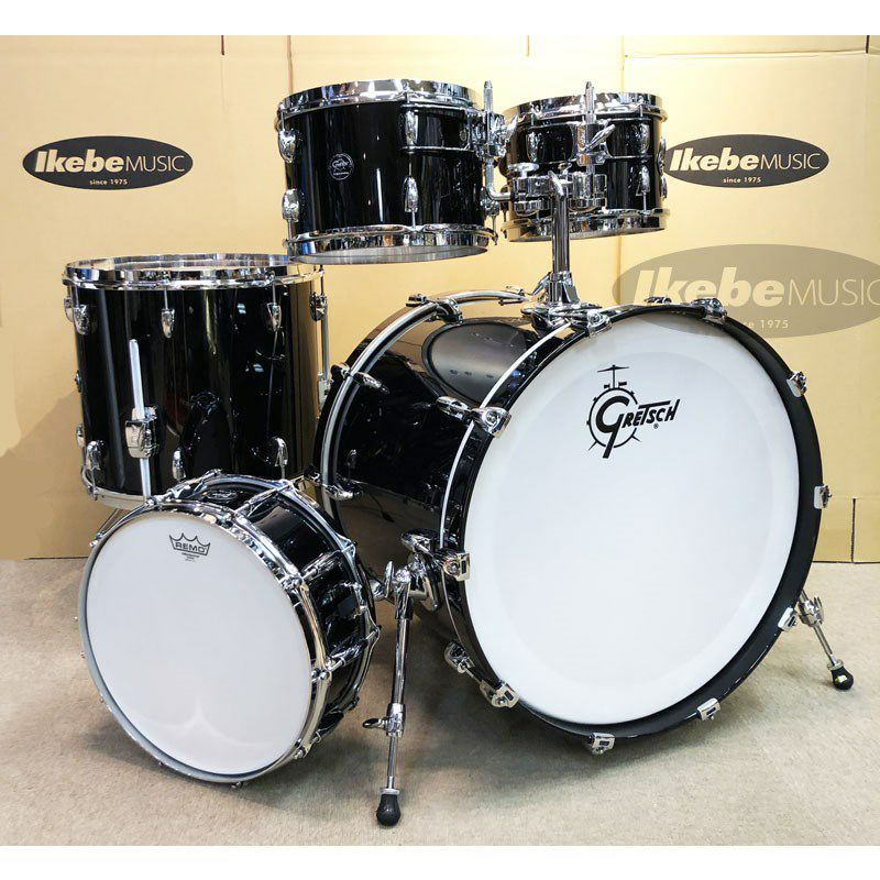 RN2-E825-PB [Renown Series 5pc Drum Kit / Piano Black Gloss]_1