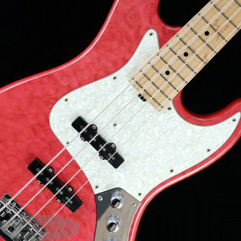 TYO Modern Edge 4string J Bass AAA Quilted Maple Top / PINK【USED】_5