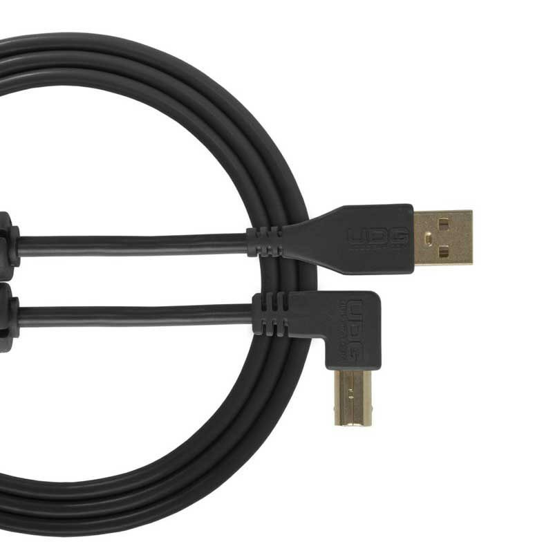 Ultimate Audio Cable USB 2.0 A-B Black Angled 2m_1