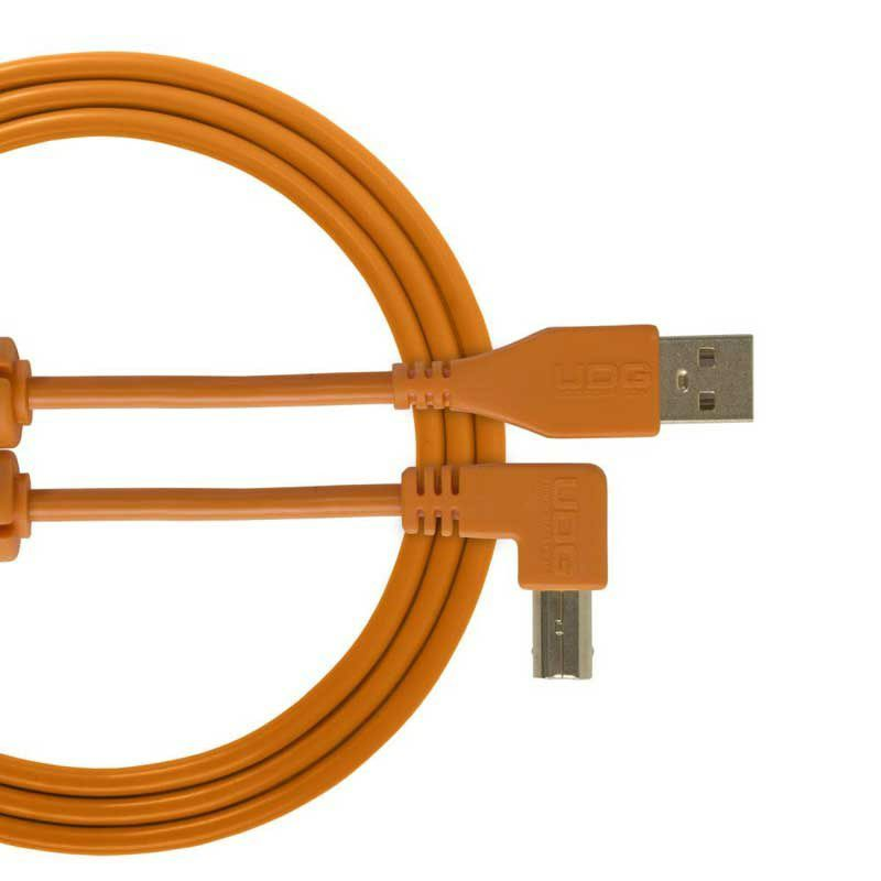 Ultimate Audio Cable USB 2.0 A-B Orange Angled 1m_1