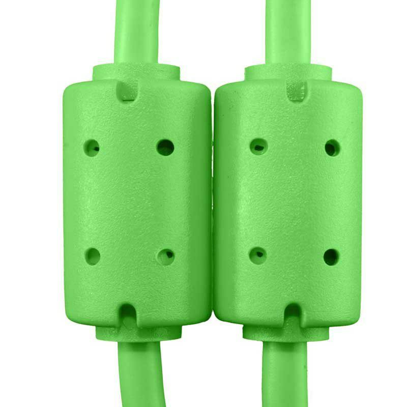 Ultimate Audio Cable USB 2.0 A-B Green Angled 1m_6