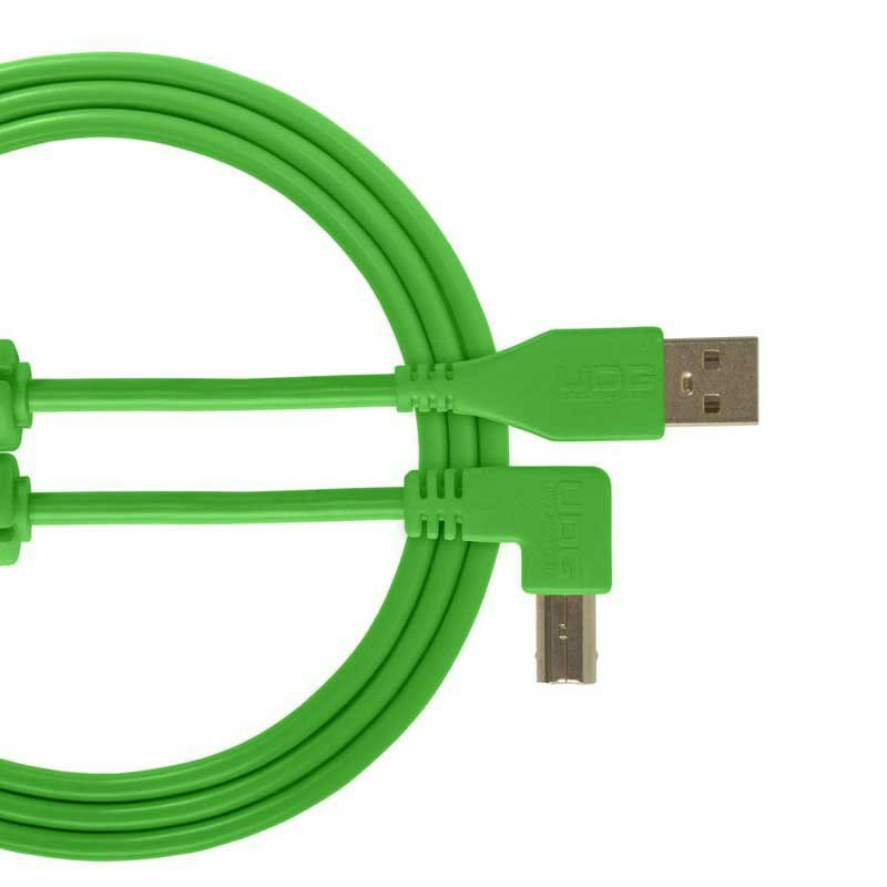 Ultimate Audio Cable USB 2.0 A-B Green Angled 2m_1