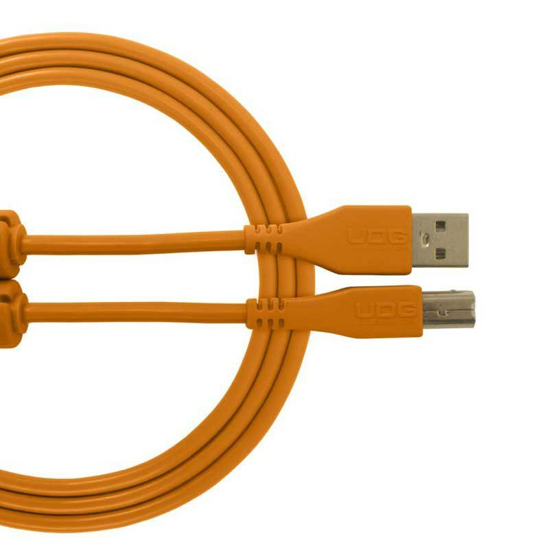 Ultimate Audio Cable USB 2.0 A-B Orange Straight 1m_1