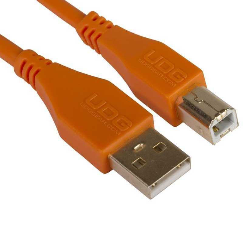 Ultimate Audio Cable USB 2.0 A-B Orange Straight 1m_2