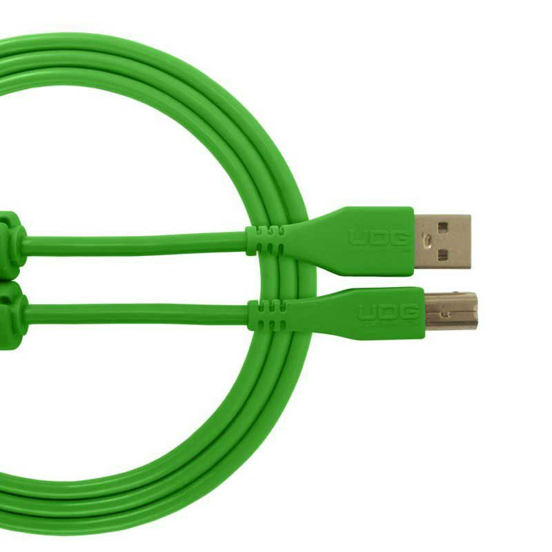Ultimate Audio Cable USB 2.0 A-B Green Straight 1m_1