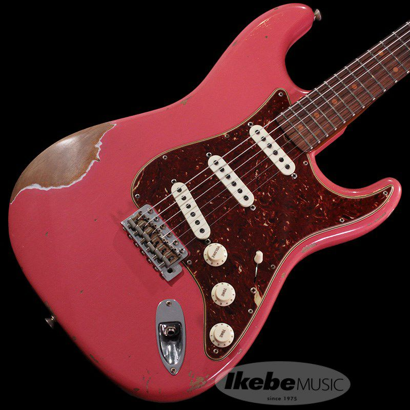 2018 Limited 1960 Roasted Alder Stratocaster Heavy Relic (Super Faded/Aged Fiesta Red)_1