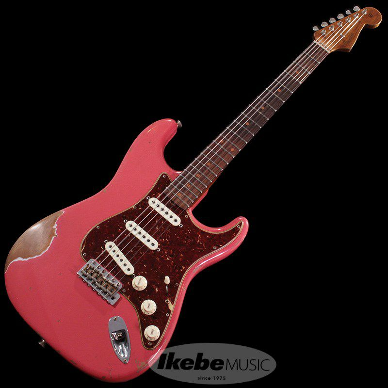 2018 Limited 1960 Roasted Alder Stratocaster Heavy Relic (Super Faded/Aged Fiesta Red)_2