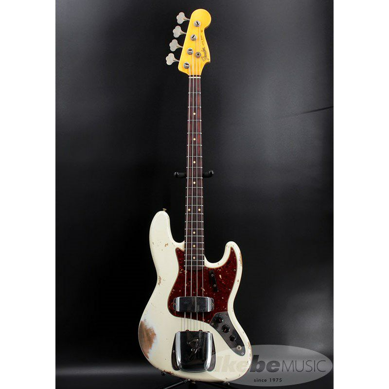 2021 Custom Collection 1961 Jazz Bass Heavy Relic (Aged Olympic White)_2
