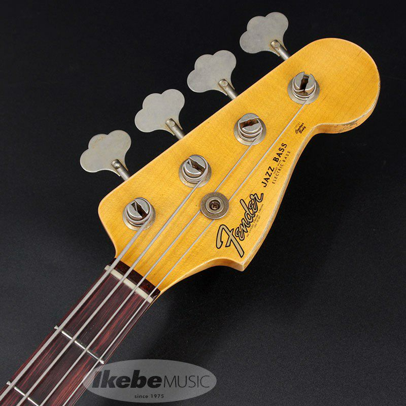 2021 Custom Collection 1961 Jazz Bass Heavy Relic (Aged Olympic White)_4