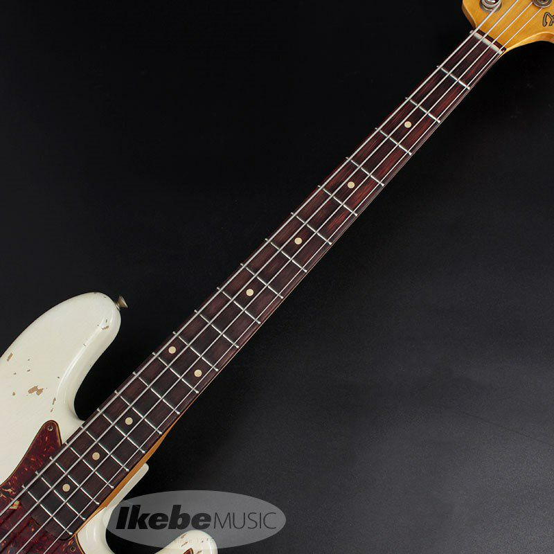 2021 Custom Collection 1961 Jazz Bass Heavy Relic (Aged Olympic White)_5