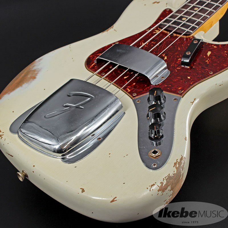 2021 Custom Collection 1961 Jazz Bass Heavy Relic (Aged Olympic White)_8