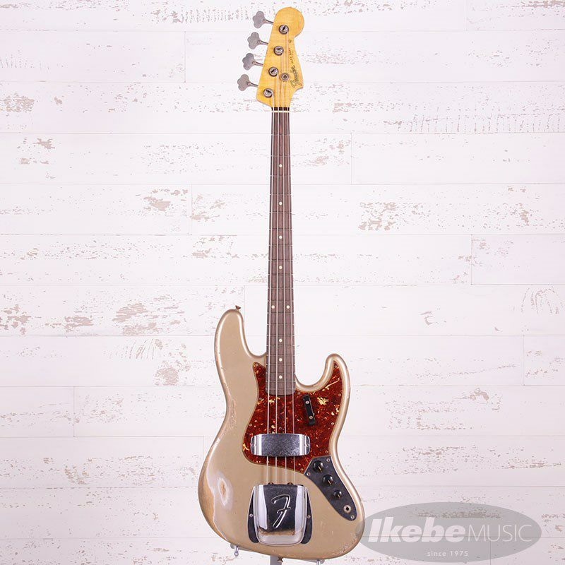 2021 Custom Collection 1961 Jazz Bass Heavy Relic (Aged Shoreline Gold)_3