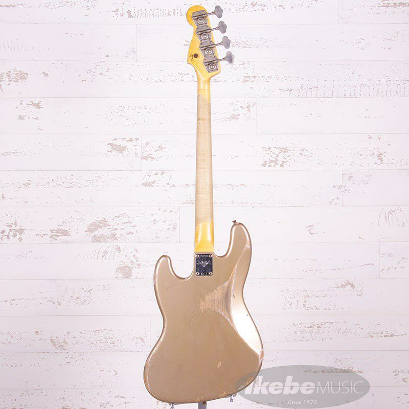 2021 Custom Collection 1961 Jazz Bass Heavy Relic (Aged Shoreline Gold)_4