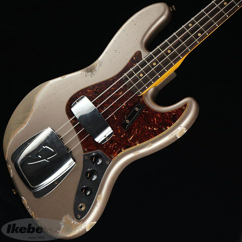 2021 Custom Collection  1961 Jazz Bass Heavy Relic (Aged Shoreline Gold)_1