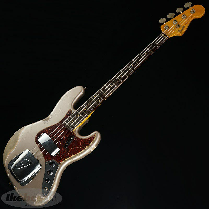 2021 Custom Collection  1961 Jazz Bass Heavy Relic (Aged Shoreline Gold)_2