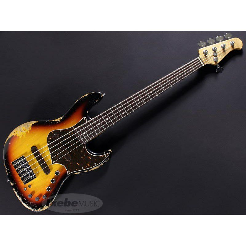XJ-1T 5st 3Tone Burst/Alder/Rosewood Lacquer Heavy Aged,Roasted Neck_1