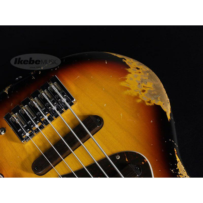 XJ-1T 5st 3Tone Burst/Alder/Rosewood Lacquer Heavy Aged,Roasted Neck_5