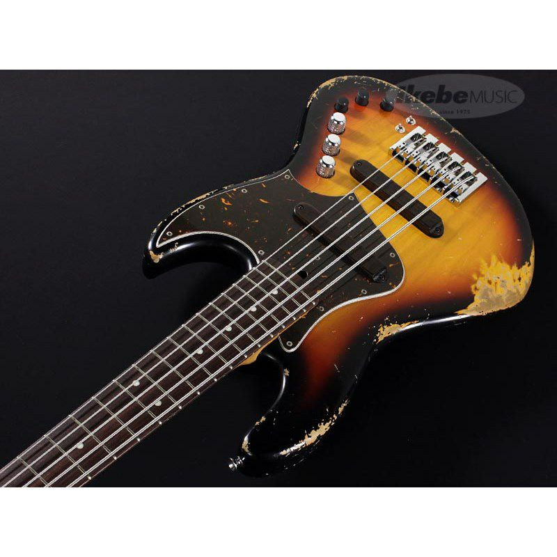 XJ-1T 5st 3Tone Burst/Alder/Rosewood Lacquer Heavy Aged,Roasted Neck_6