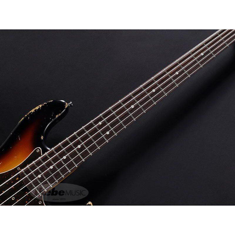 XJ-1T 5st 3Tone Burst/Alder/Rosewood Lacquer Heavy Aged,Roasted Neck_7