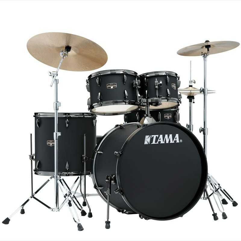 IE52KH6B-BOB [IMPERIALSTAR 22 Bass Drum Kit w/Hardware Kit (without Cymbal)/Blacked Out Black] 【限定品】 【お取り寄せ品】_1