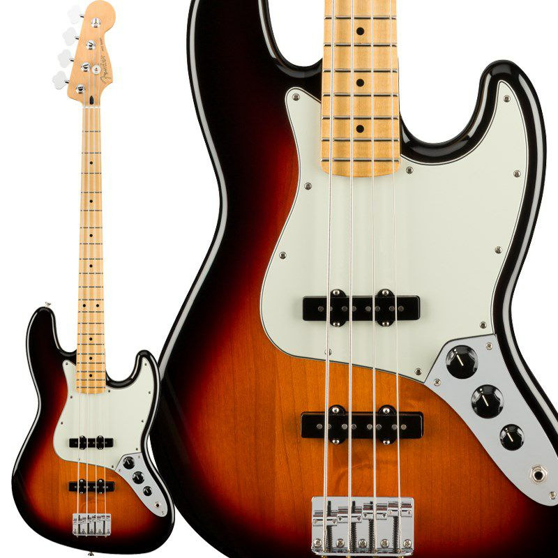 Player Jazz Bass (3-Color Sunburst/Maple) [Made In Mexico]_1