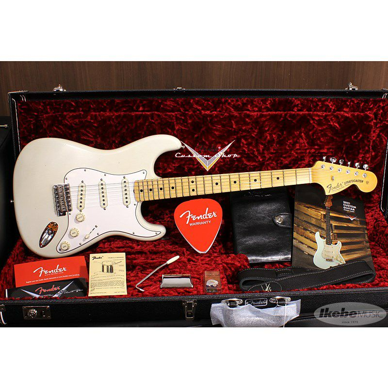 Limited Edition 1969 Stratocaster Journeyman Relic Aged Olympic White_11