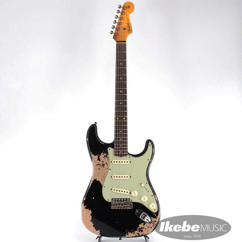 2021 Custom Shop Event Limited Edition 1960 Dual Mag II Stratocaster Super Heavy Relic (Aged Black)_2