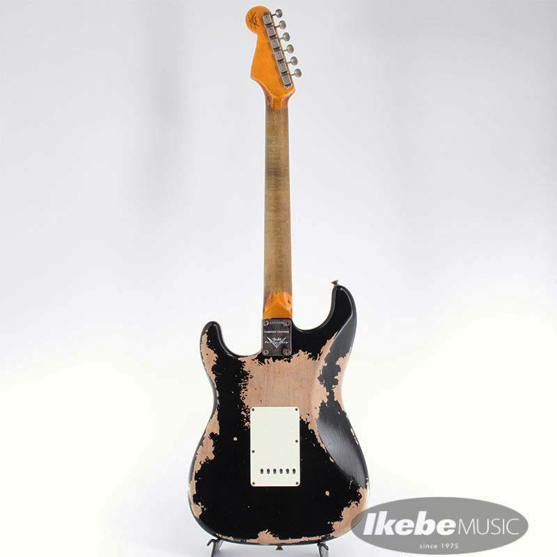 2021 Custom Shop Event Limited Edition 1960 Dual Mag II Stratocaster Super Heavy Relic (Aged Black)_3
