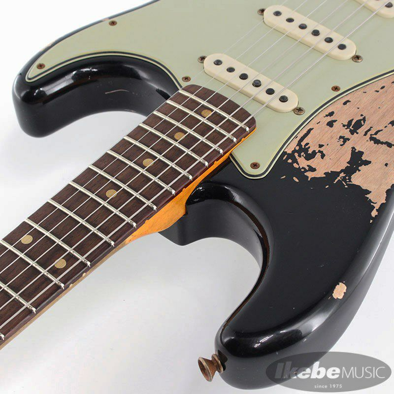 2021 Custom Shop Event Limited Edition 1960 Dual Mag II Stratocaster Super Heavy Relic (Aged Black)_9