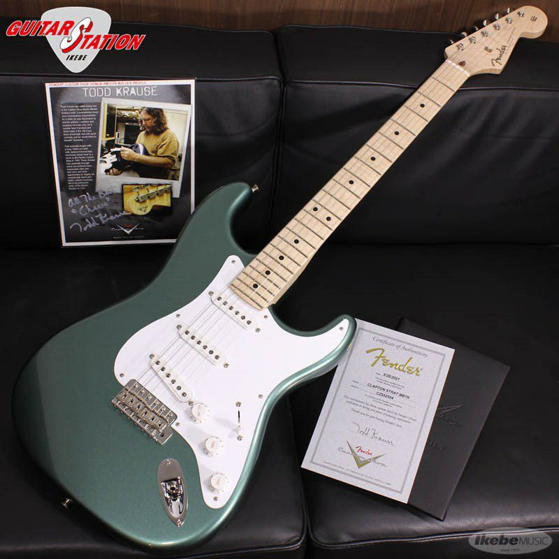 MBS Eric Clapton Stratocaster AAA Flame Maple Neck NOS Almond Green, Master Built By Todd Krause_1