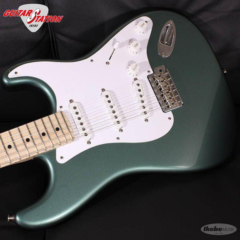 MBS Eric Clapton Stratocaster AAA Flame Maple Neck NOS Almond Green, Master Built By Todd Krause_4